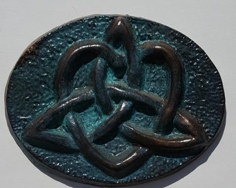 Ceramic Celtic Love Knot Bronze