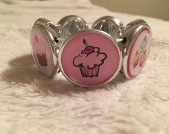 Cupcake Jewelry Stretchable Bracelet