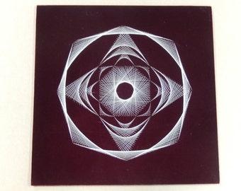 1960's handmade string art