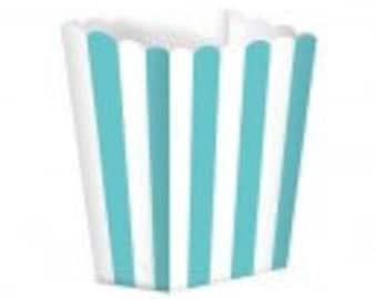 striped popcorn boxes set 10