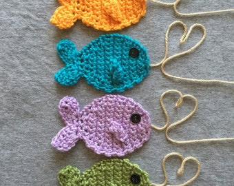 Set of four fish