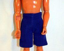 Handmade 13 Inch Male Fashion Doll Clothes Action Figure Swimsuit Style 1 Blue
