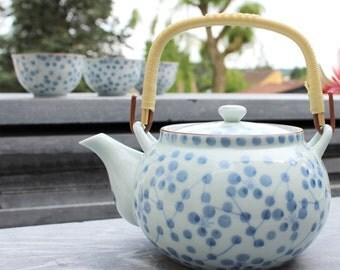 A beautiful blue/white Japanese teapot