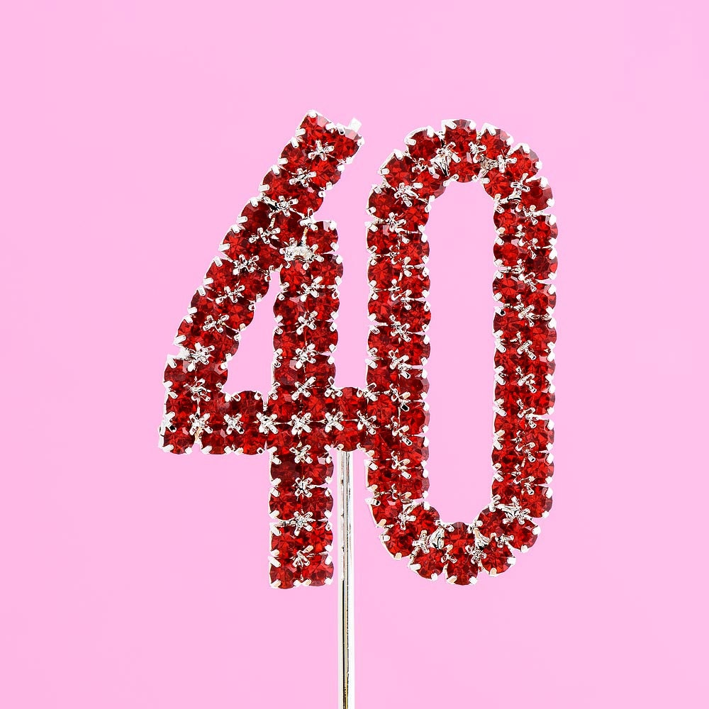 4 5cm Diamante Rhinestone Cake Topper Numbers 1 100