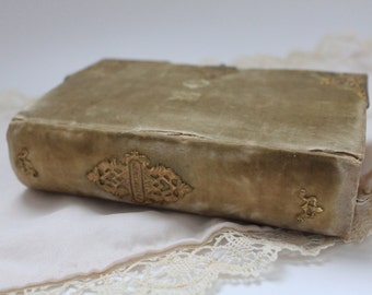 old book with gold decoration