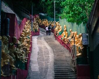 Stairway to Buddhist Temple