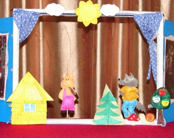 Puppet theatre The Three Little Pigs
