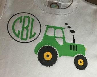 Tractor Tee Shirt John Deere boys tractors monogrammed tractor