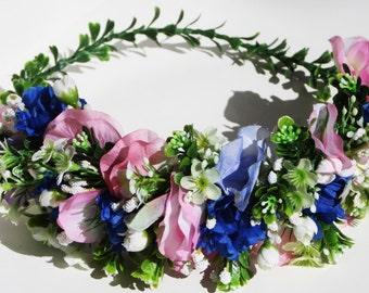 Sweet peas flower crown