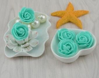 Decorative Flowers,30pcs,  Artificial Flowers,Mini PE Foam Roses For Wedding,Car Decoration,DIY Flowers Wreath,Pompom Flowers,Free Shipping