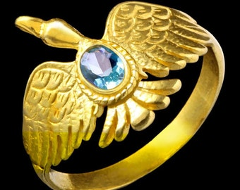 Gold Plated Ring Aquila