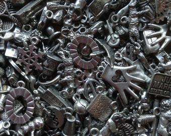 100 Mystery Pewter Charms
