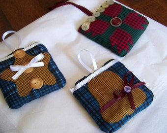 Set of 3 Fabric Christmas Ornaments #3