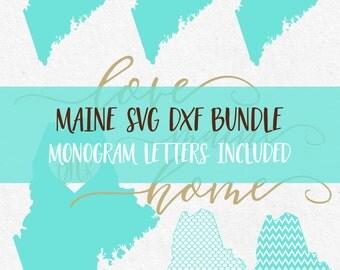 Maine Svg Svg Fonts Svg Monogram Frames files for silhouette svg files for cricut svg files sayings svg svg monogram bundle svg mermaid