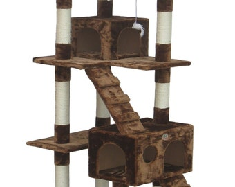 Simple Brown Cat Tree