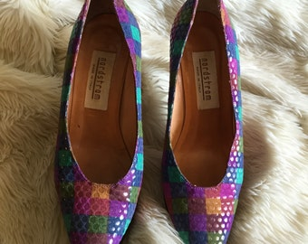 SALE 1980s Nordstrom Checkered Pumps