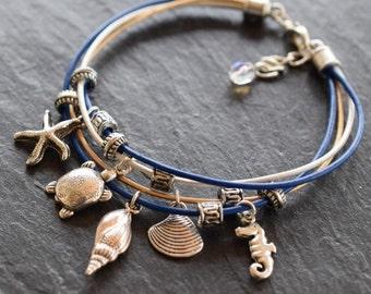 DIY Nautical Multi Strand Leather Wristband Jewellery Kit
