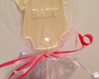 12 Chocolate Baby Onesie Lollipops Baby Shower Party Favors