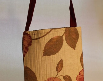 Large Bag with Floral Pattern