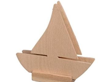 "Napkin holder ""Boat"", decoupage, wood 13x13 cm"