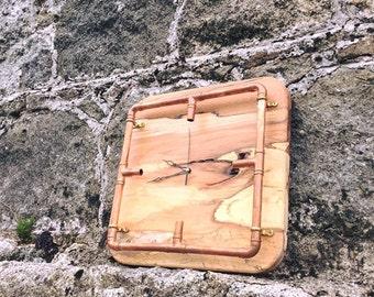 Copper & Wood Clock
