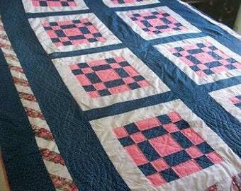Custom Fleece Patchwork Quilt