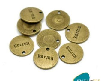 10 x Karma Positive Affirmation Charms | KRM567