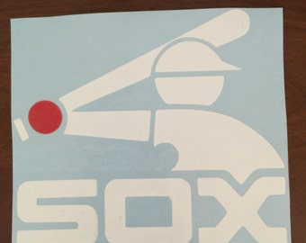 Car Decal Handmade White Sox Decal