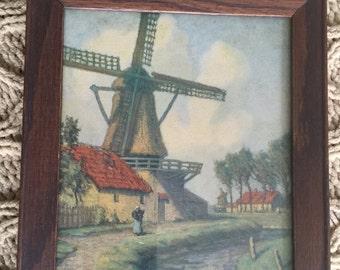 Very Sweet framed Holland scene print