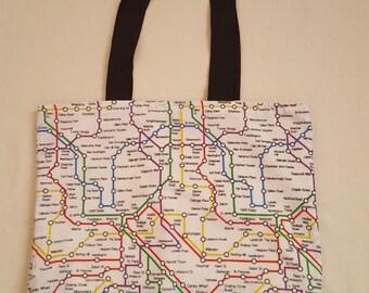 London Underground style tote bag (Going underground collection)