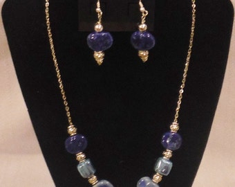 Handmade Ceramic, Beaded Necklace & Earring Sets