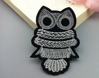 5pcs 6x8cm wide silver/gold owl appliques pocket clothes md85kg free ship