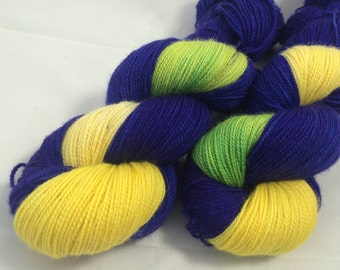 Iris - Superwash Blue Faced Leicester Sock 100g