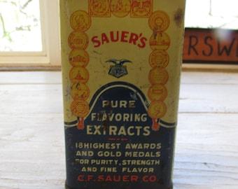Vintage Sauer & Co Stick Cinnamon Tin