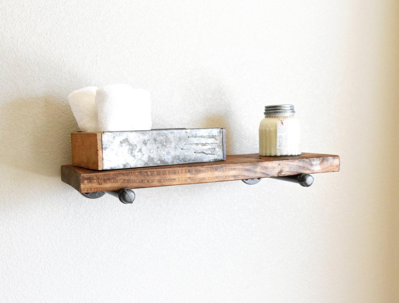 10 Deep Industrial Floating Shelf Rustic Shelf Wood
