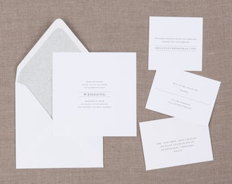 Brunia Wedding Collection by Paper Daisies, Invitation Suite, Modern, SAMPLE SET
