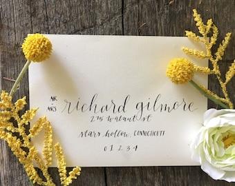 Wedding Envelope Calligraphy - Envelope Addressing - Calligraphy Envelope - Classic Calligraphy Envelope - Option E
