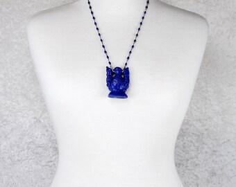 Antique Lapis Lazuli Flacon as Pendant for Short Chinese Cloisonné Necklace
