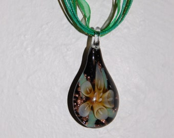 Lampwork Flower Necklace