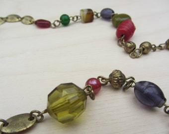 Multicolour Glass Bead Necklace