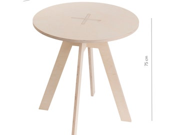 Round table, white