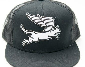 Cat Wings Patch Snap Back Hat