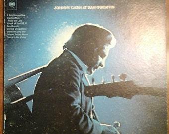 Johnny Cash - Johnny Cash at San Quentin CS-9827 Vinyl Record LP  1969