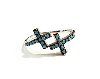 Cross silver ring 925, Sterling silver ring, Dainty ring