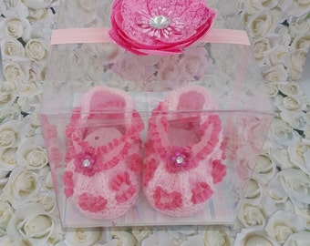 Gift-knitted baby booties
