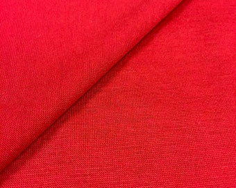 Jersey Knit Fabric By The Yard (Wholesale Price Available By The Bolt) USA Made Premium Quality - 10001 Lipstick - 1 Yard