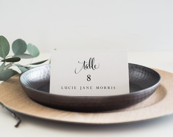 Instant Download Printable Place Card-Editable PDF-DIY Template-Escort Card-Wedding Name Tag-Printable Wedding Seating Card-#SN04_PC