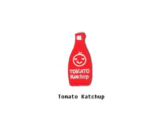 Tomato Ketchup Fruits Food Hamburger Candy Cupcake French Fries Kids Embroidered Sew Iron On Patches Patch Appliques Biker Small For Jeans