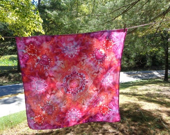 "Tie dyed tie dye swaddle blanket tapestry -""Angelic Embrace"""