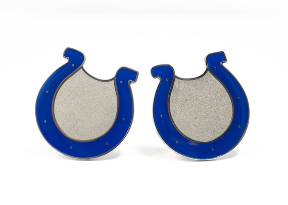 Indianapolis Colts Cuff Links -- FREE SHIPPING with USPS First Class Domestic Mail